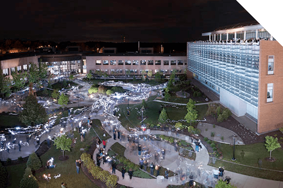 Aerial view of the Rhode Island Institute of Technology campus